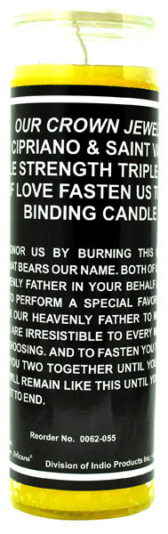 Binding Yellow Candle - 7 Sisters 7 Day Fixed